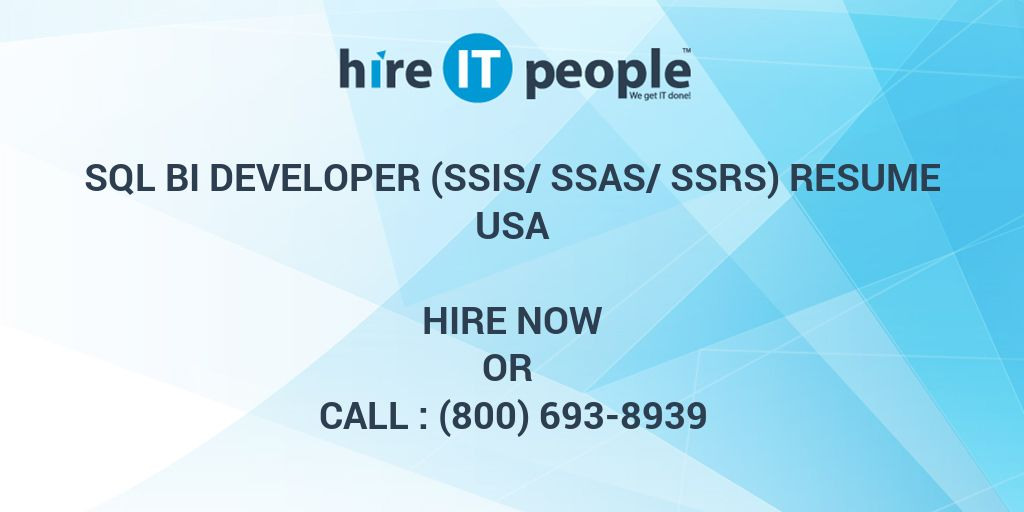 SQL BI DEVELOPER SSIS SSAS SSRS Resume