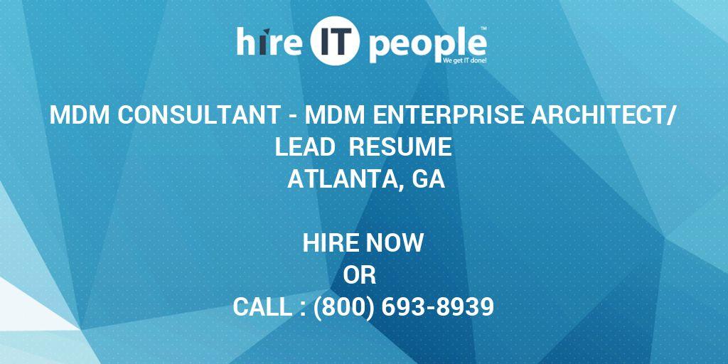 MDM Consultant - MDM Enterprise Architect/Lead Resume