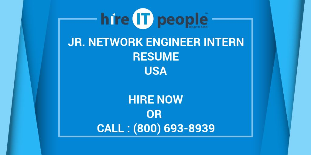 Jr Network Engineer Intern Resume