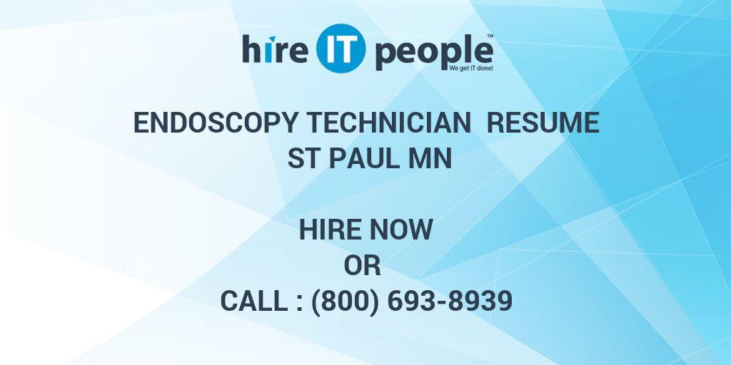 Endoscopy Technician Resume St Paul MN
