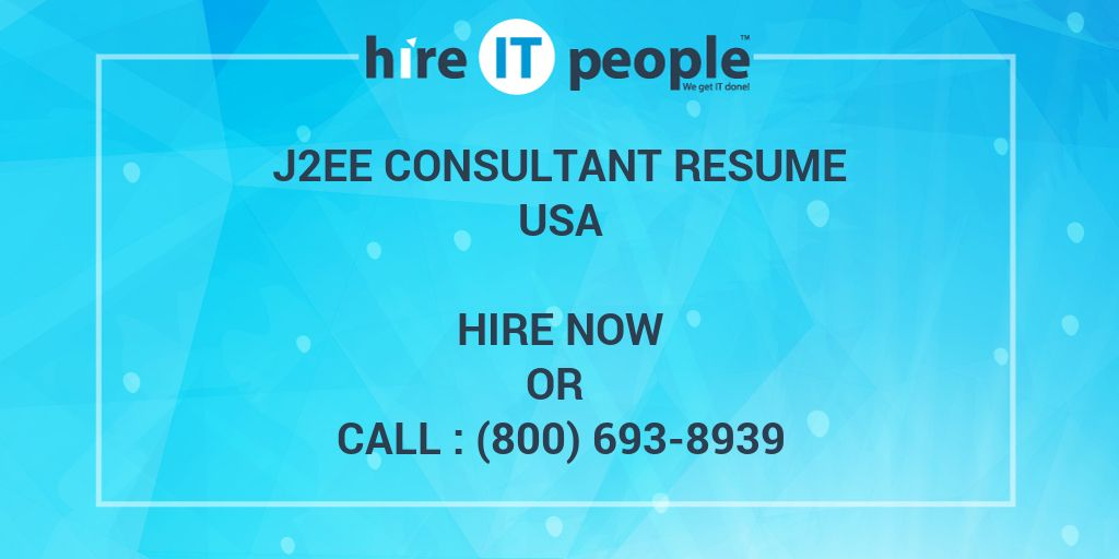 j2ee consultant resume
