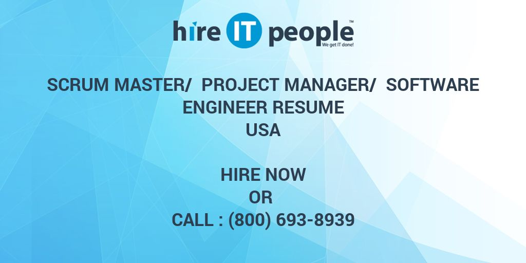 scrum master   project manager   software engineer resume