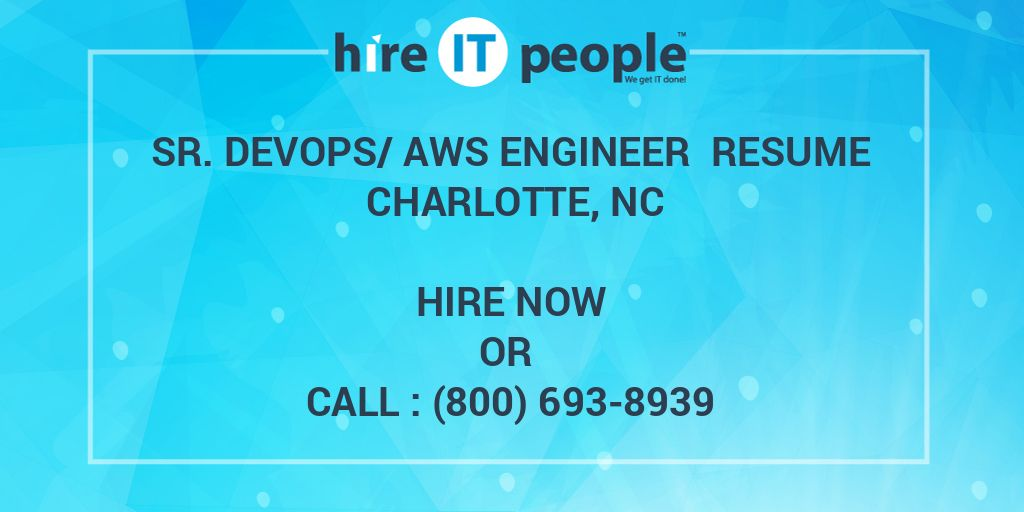 sr  devops  aws engineer resume charlotte  nc