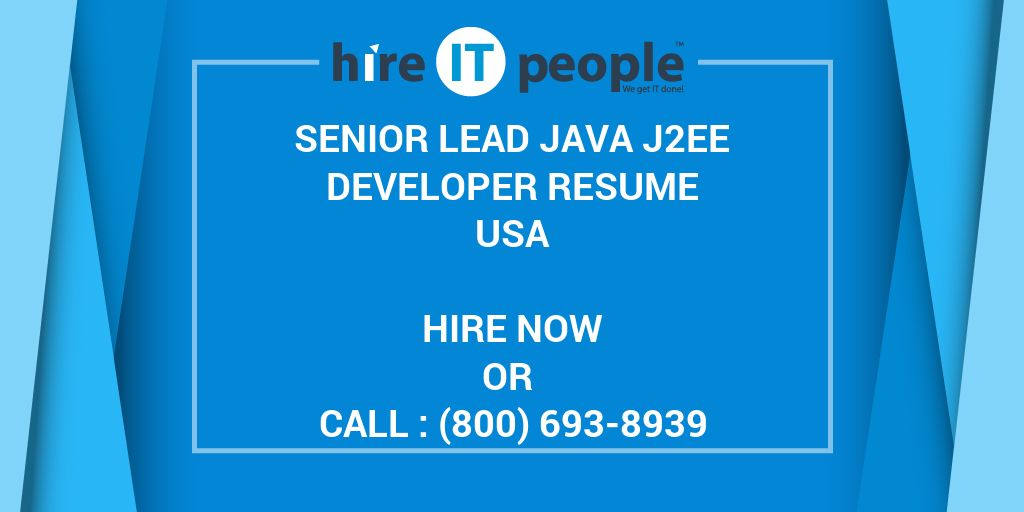 Senior Lead Java J2EE Developer Resume