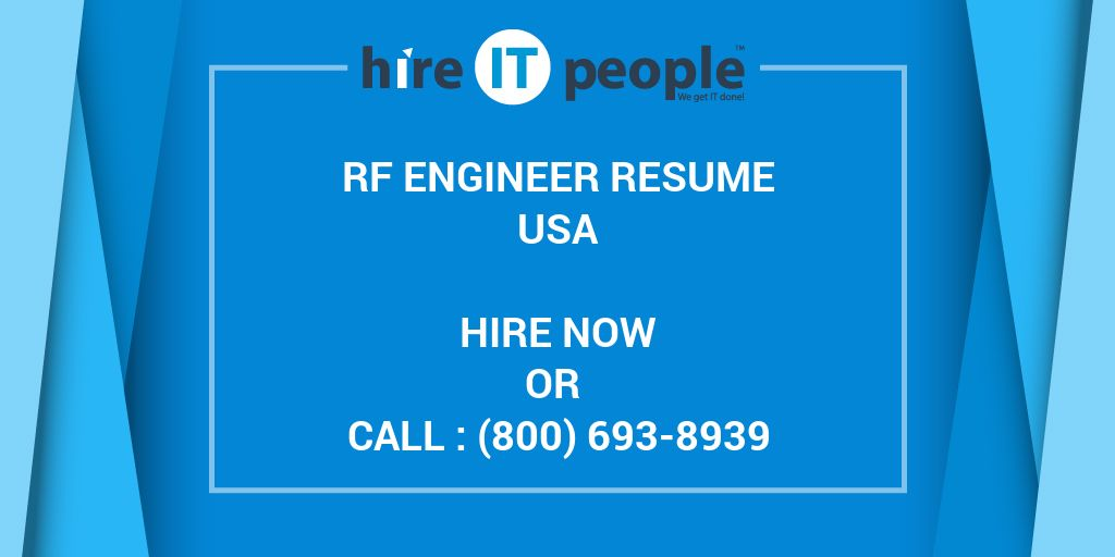 rf engineer resume hire it people we get it done