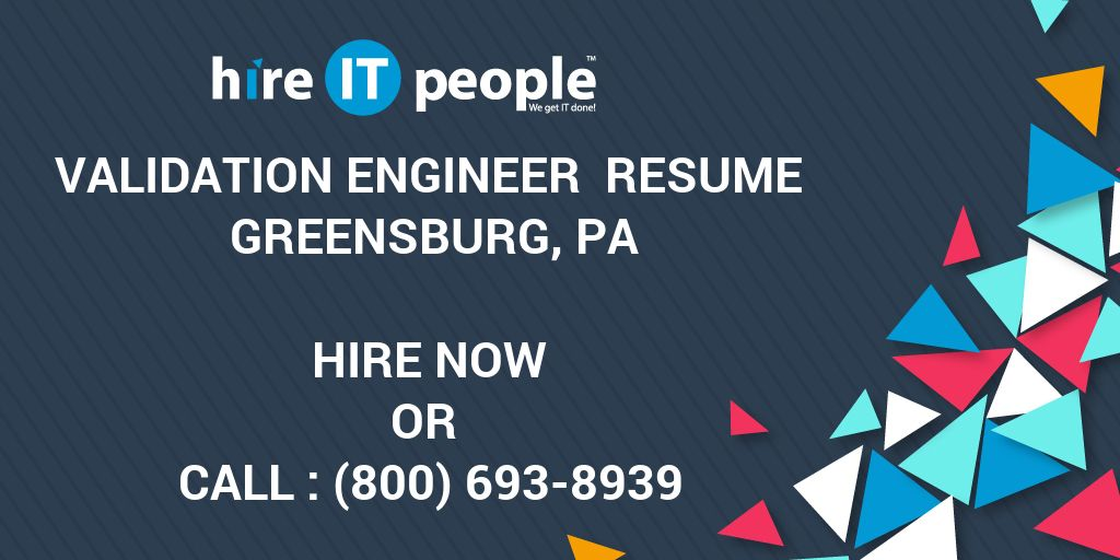 validation engineer resume greensburg  pa