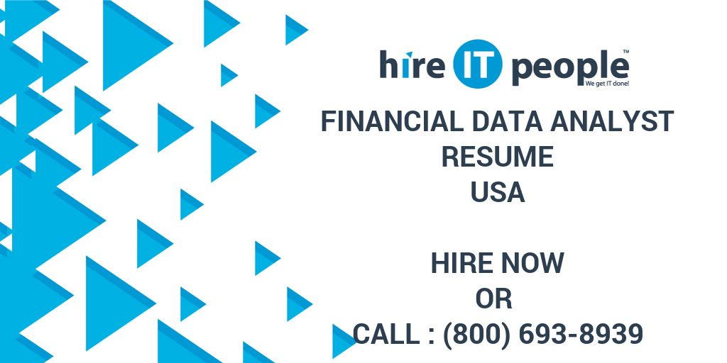 financial data analyst resume hire it people we get it done - Financial Data Analyst Resume