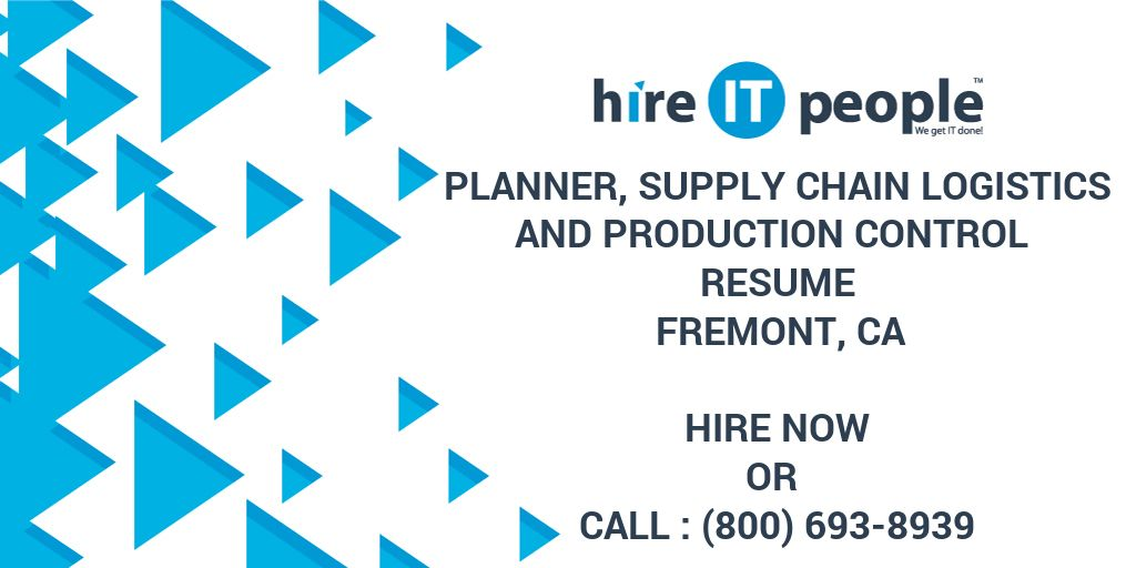 Planner, Supply Chain Logistics and Production Control
