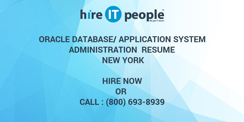 oracle database application system administration resume new york
