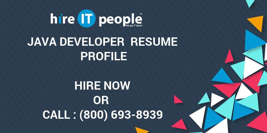 java developer resume profile hire it people we get it done