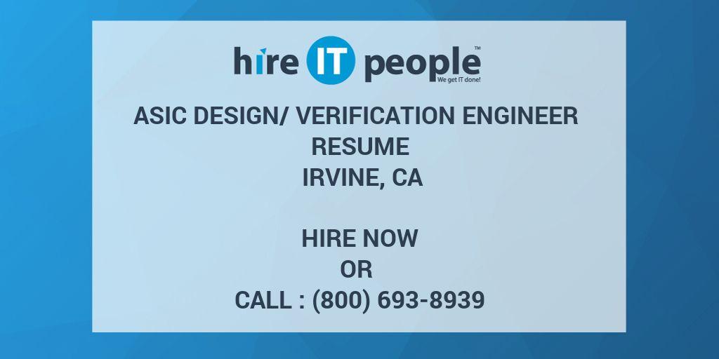 verification engineer resumes