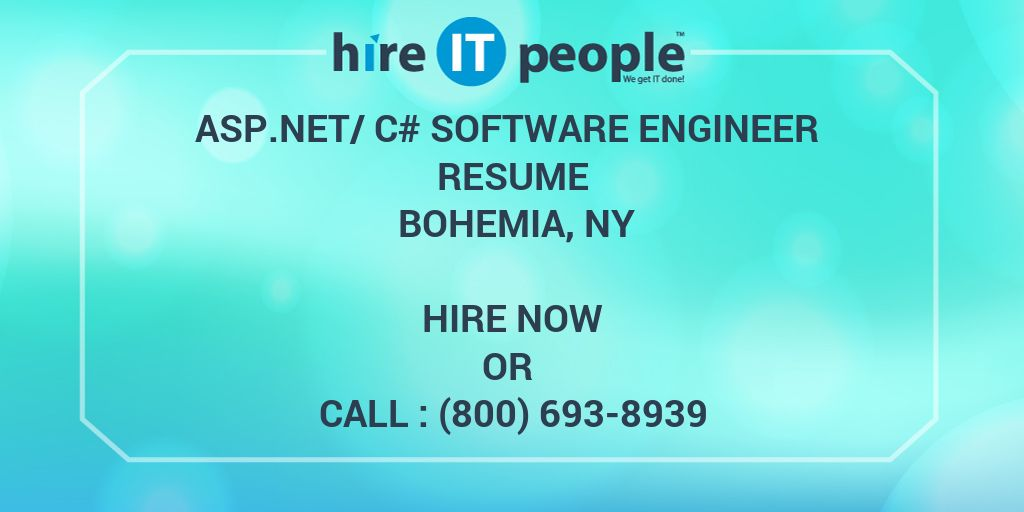 asp net c software engineer resume bohemia ny hire it people