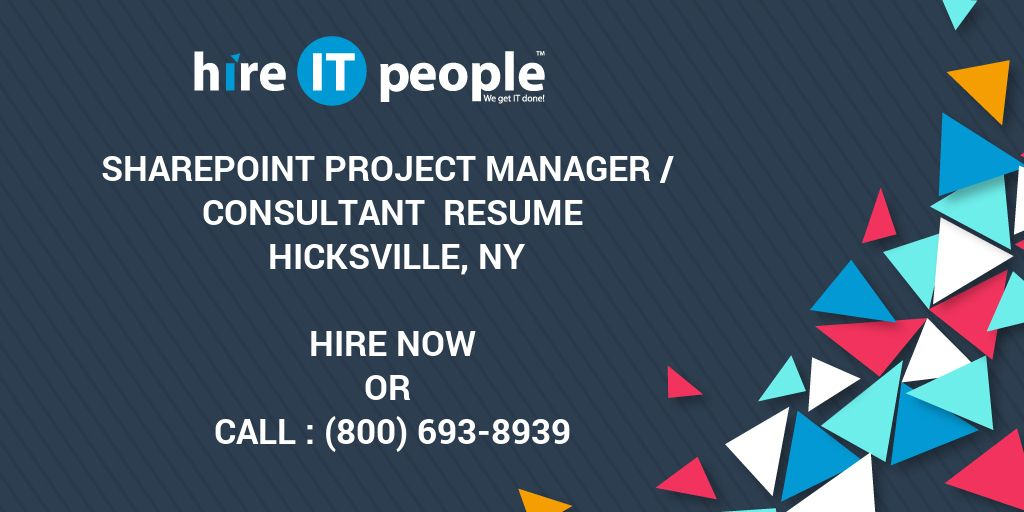 sharepoint project manager consultant resume hicksville ny