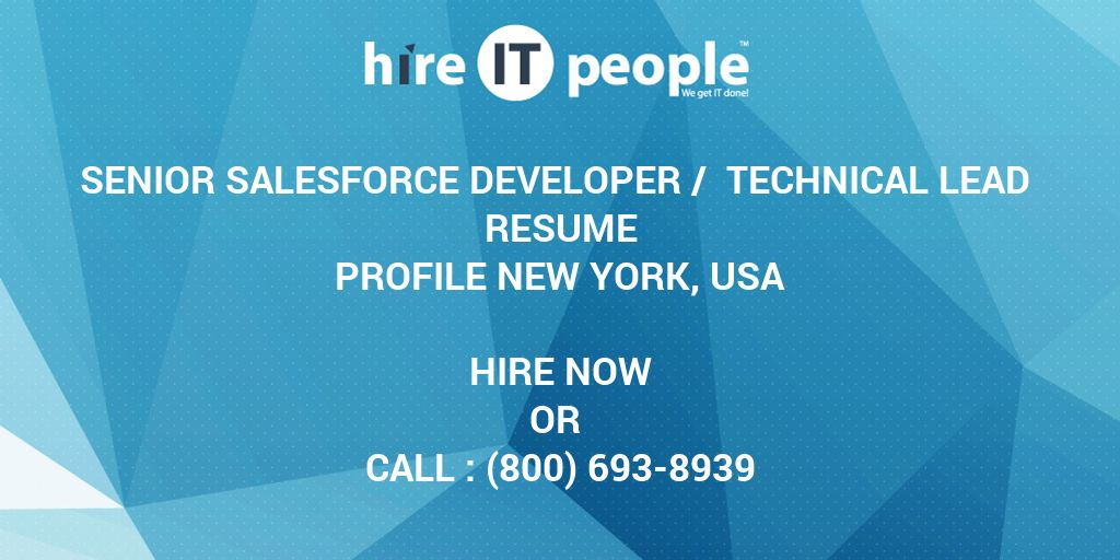 senior salesforce developer    technical lead resume