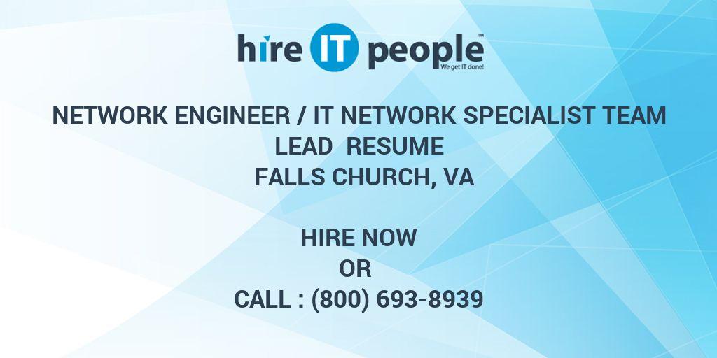 Network Engineer /IT Network Specialist Team Lead Resume Falls ...