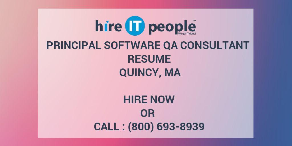 principal software qa consultant resume quincy  ma