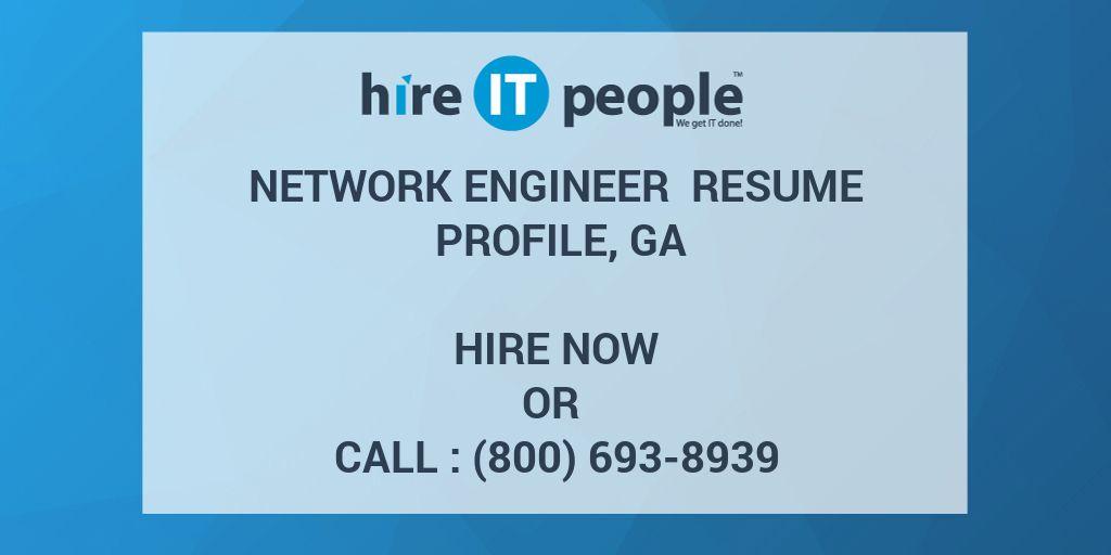 Network Engineer Resume Profile Ga Hire It People We Get It Done