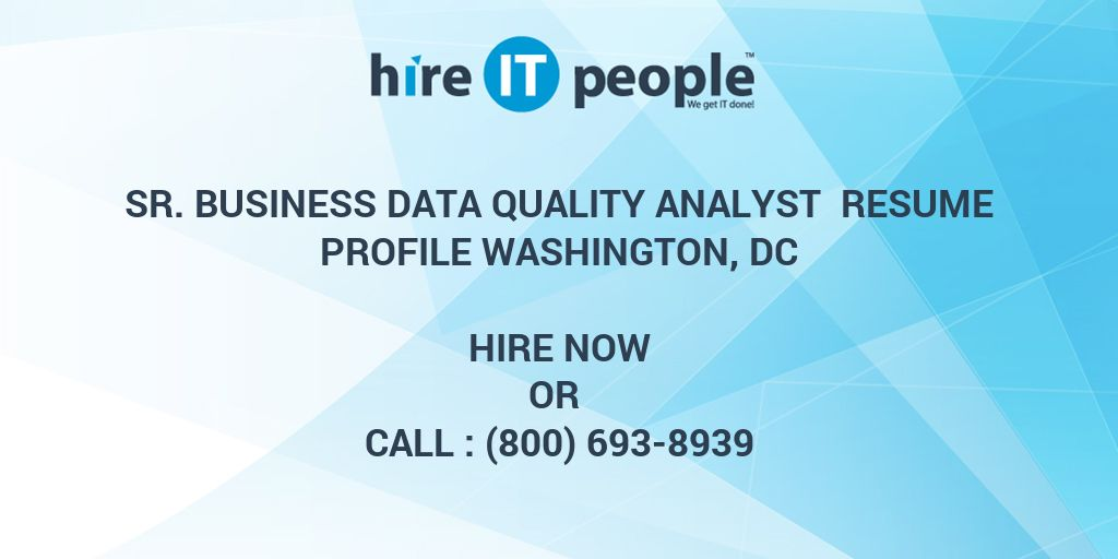 data quality analyst resumes