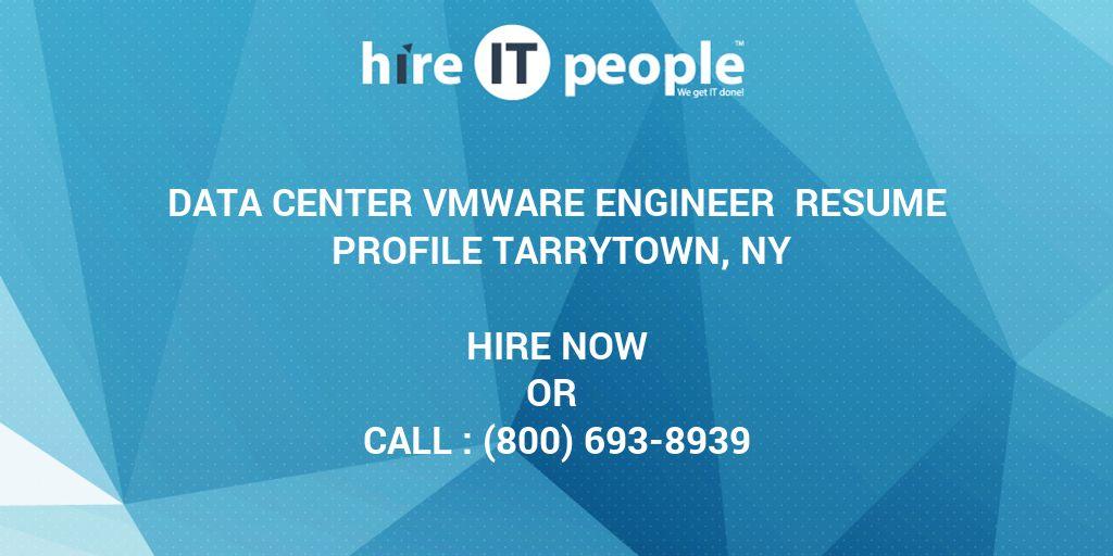 data center vmware engineer resume profile tarrytown  ny - hire it people