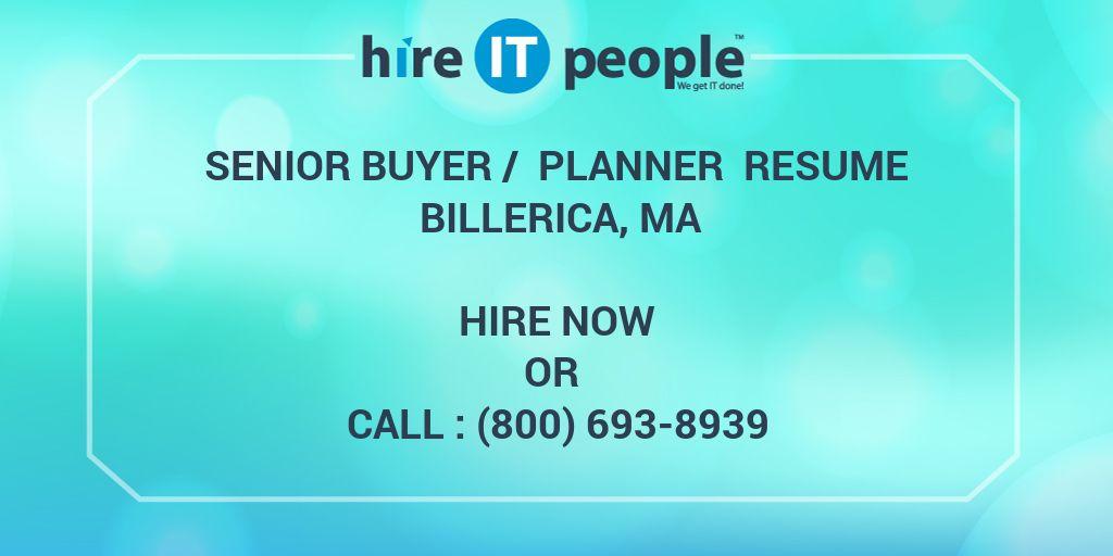 buyer planner resumes