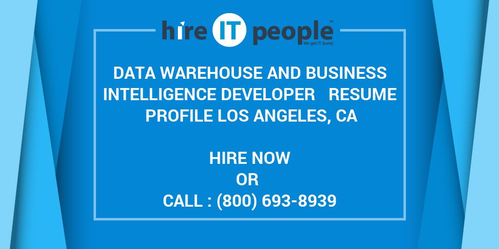 data warehouse and business intelligence developer resume