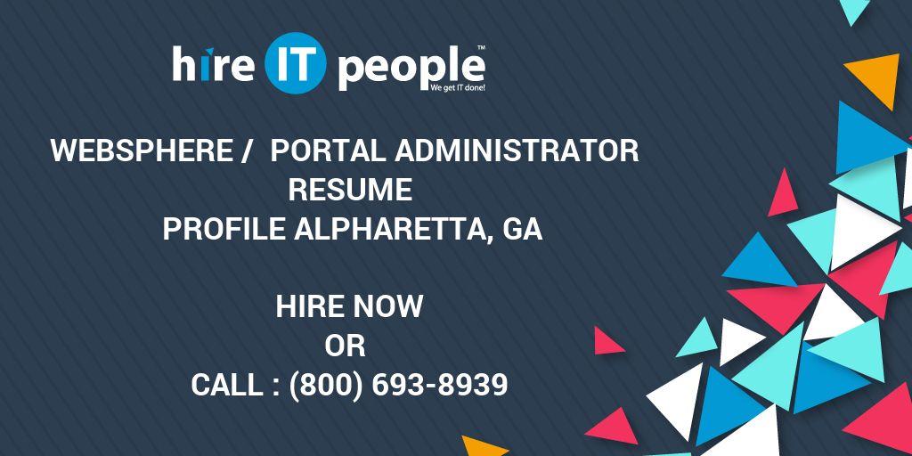 websphere portal administrator resume profile alpharetta ga
