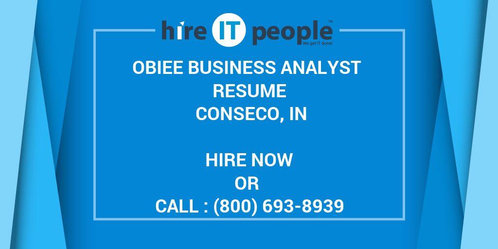 obiee business analyst resume