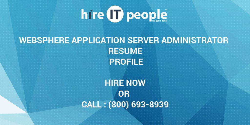 websphere application server administrator resume profile