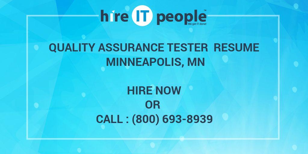 quality assurance tester resume minneapolis  mn