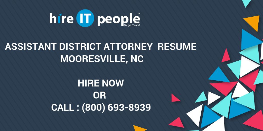 Assistant District Attorney Resume Mooresville NC