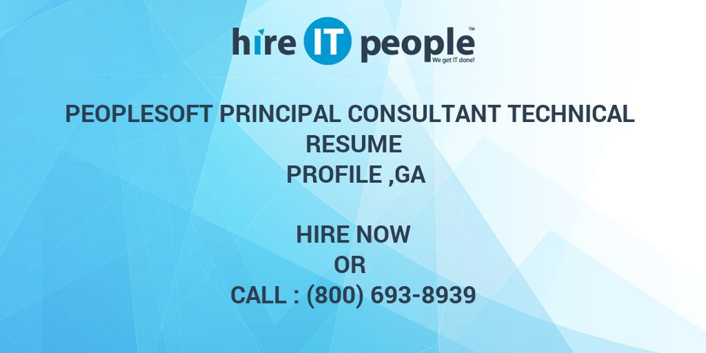 PeopleSoft Principal Consultant Technical Resume Profile ,GA - Hire ...
