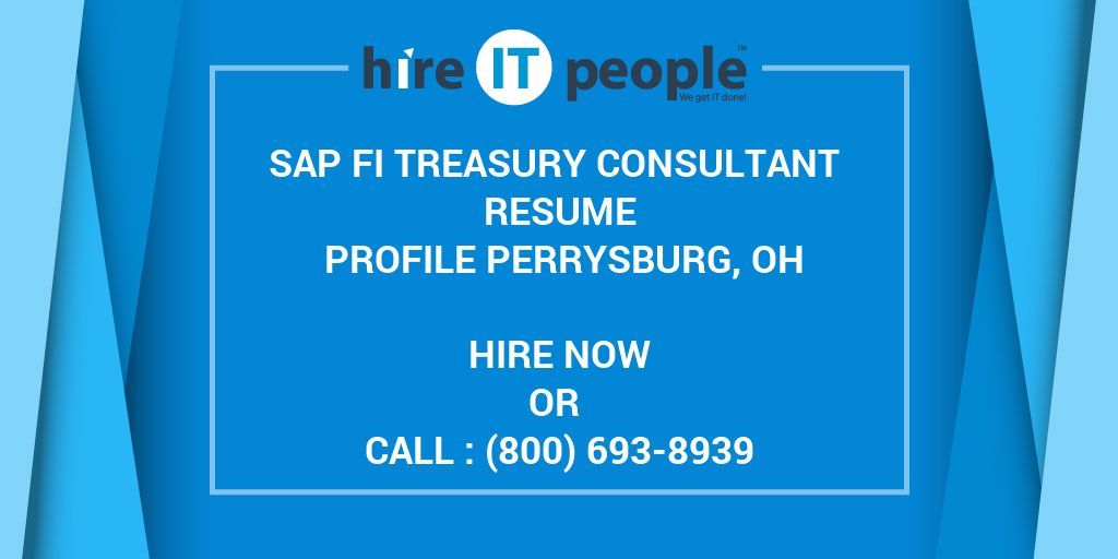 sap fi treasury consultant resume profile perrysburg  oh