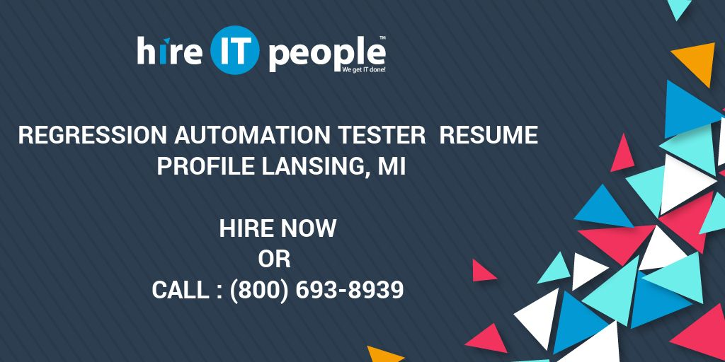 Resume Reviews Pdf Regression Automation Tester Resume Profile Lansing Mi  Hire It  Software Engineer Resume Summary with Retail Experience Resume Regression Automation Tester Resume Profile Lansing Mi  Hire It People   We Get It Done Cv Resume Difference
