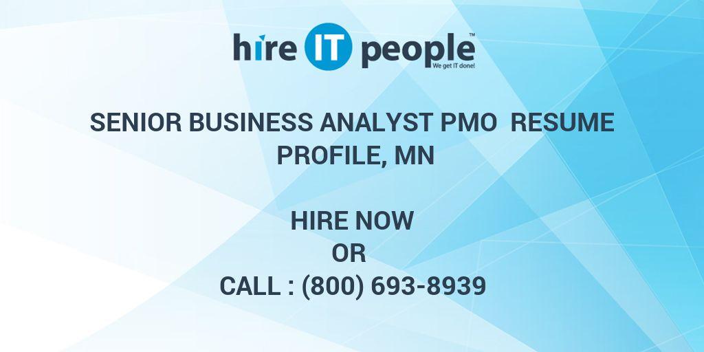 senior business analyst pmo resume profile  mn