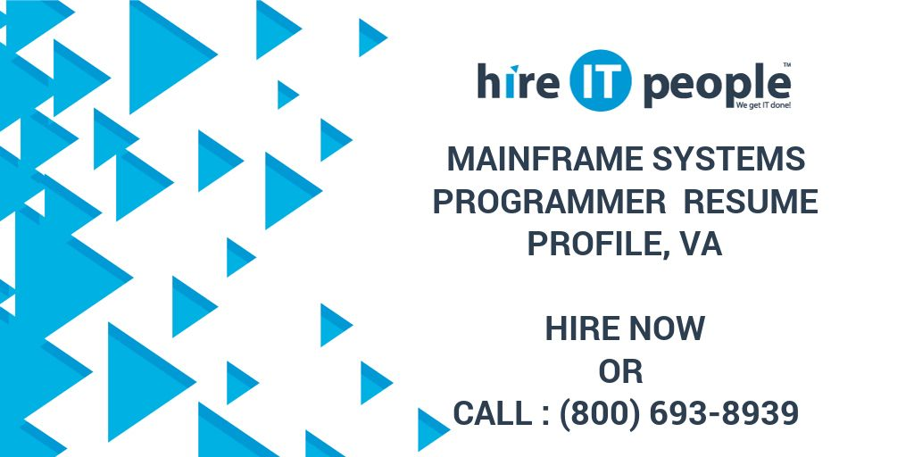 mainframe systems programmer resume profile va hire it