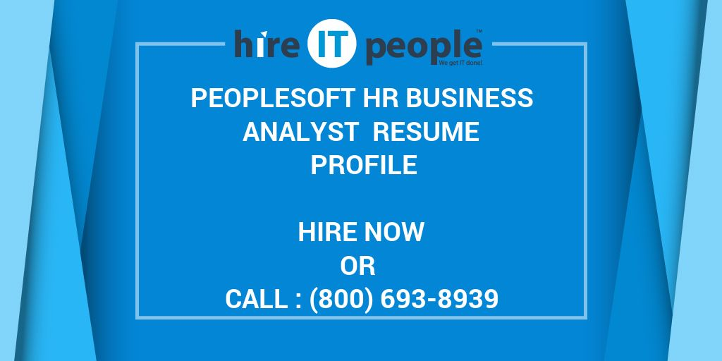 peoplesoft payroll systems analyst