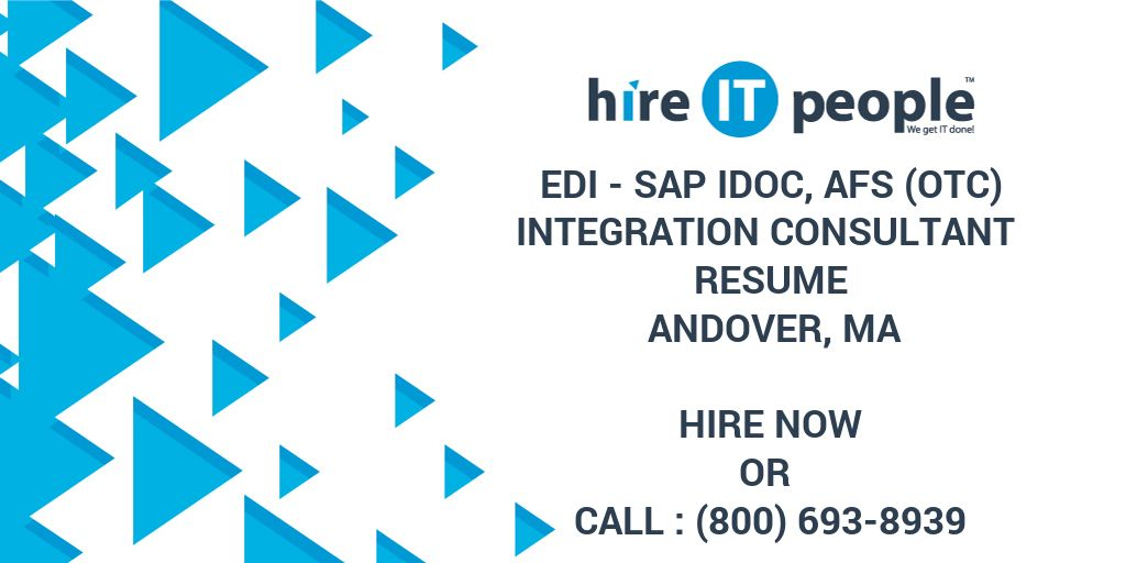 Edi Sap Idoc Afs Otc Integration Consultant Resume