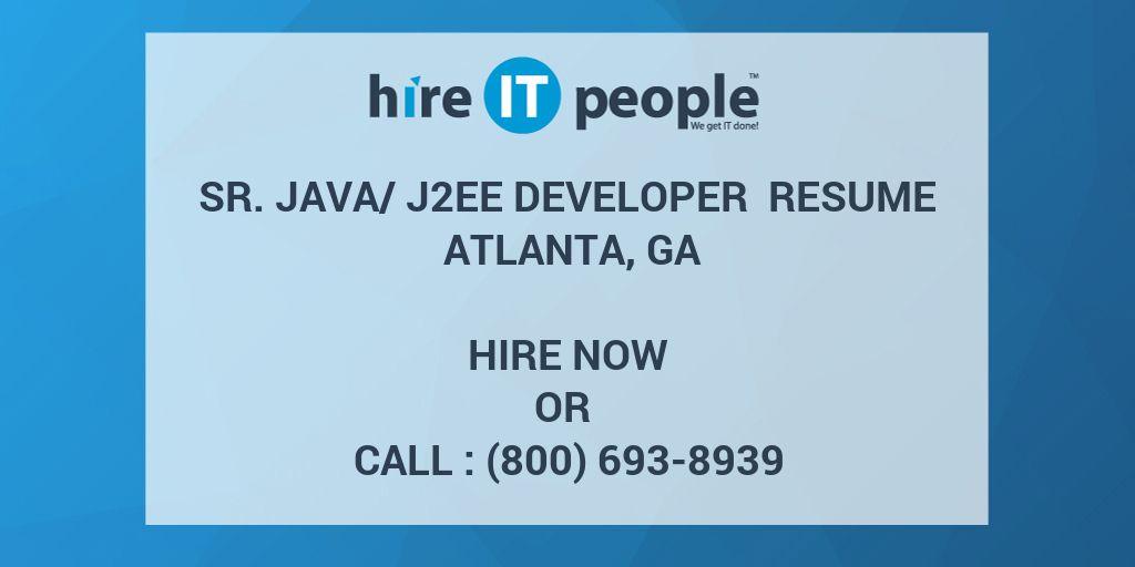 java j2ee developer resumes