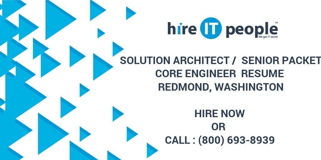 solution architect    senior packet core engineer resume