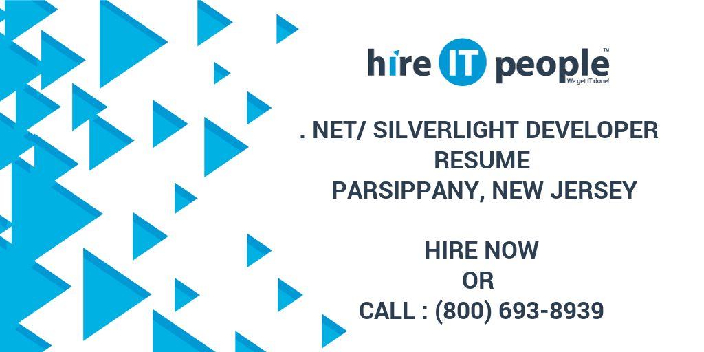 Net Silverlight Developer Resume Parsippany New Jersey
