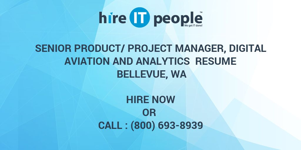 Senior Product/Project Manager, Digital Aviation and Analytics ...