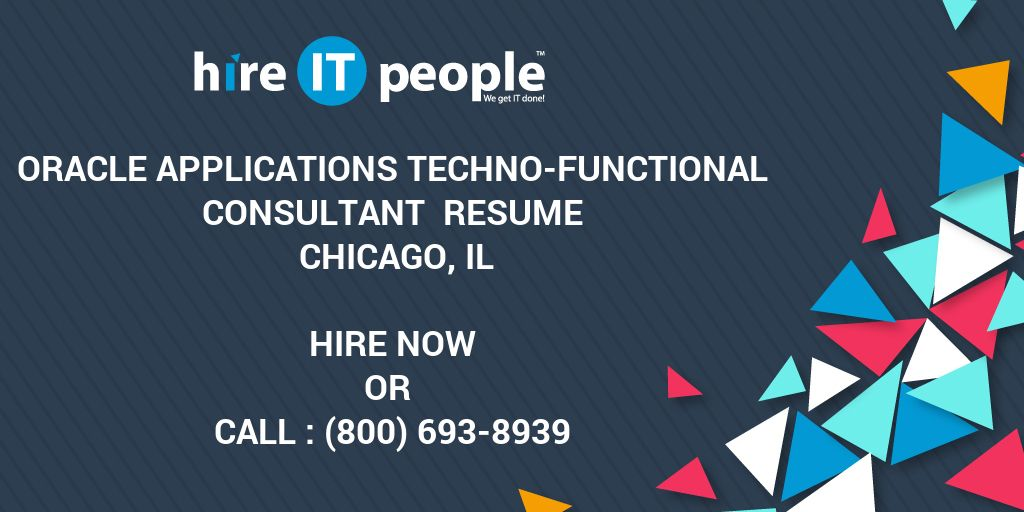 oracle applications techno functional consultant resume chicago