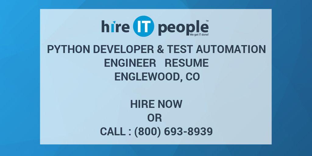 python developer  u0026 test automation engineer resume
