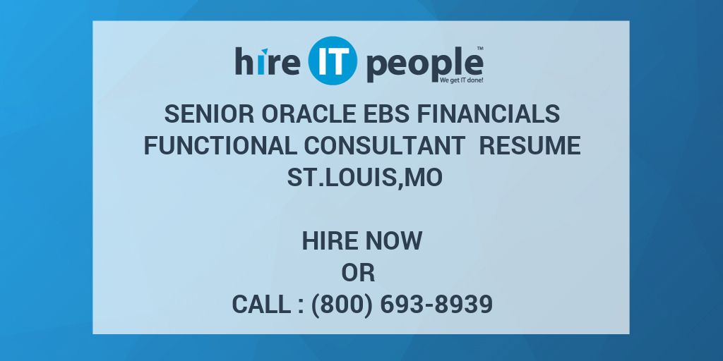 senior oracle ebs financials functional consultant resume