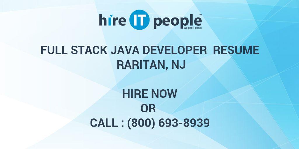 full stack java developer resume raritan nj hire it people we get it done - Java Full Stack Developer Resume