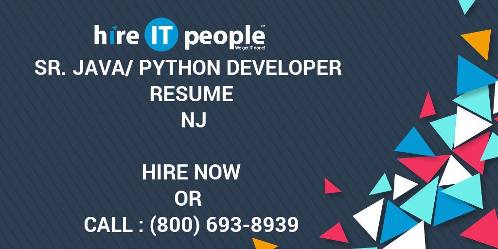 Sr  Java/Python Developer Resume NJ - Hire IT People - We
