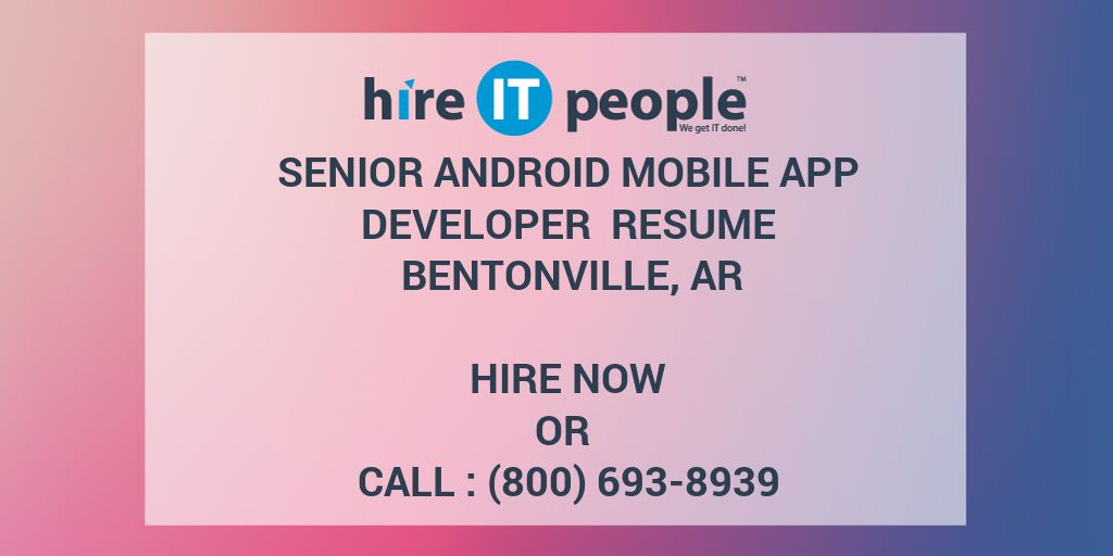 mobile application developer resumes