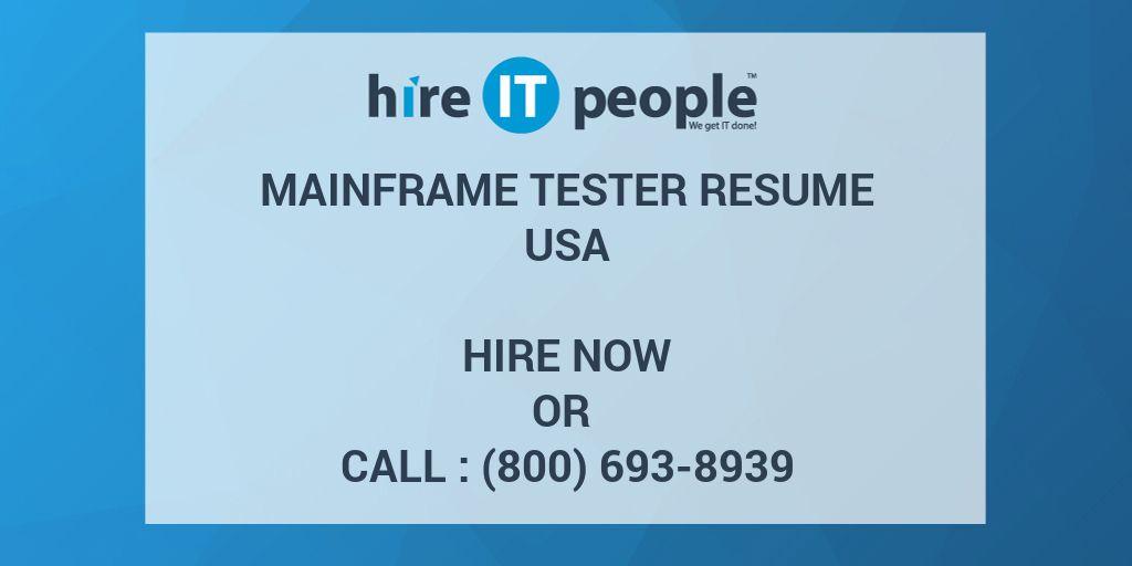 Mainframe Tester Resume