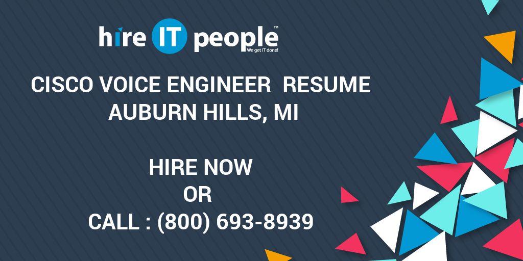 Cisco Voice Engineer Resume Auburn Hills MI