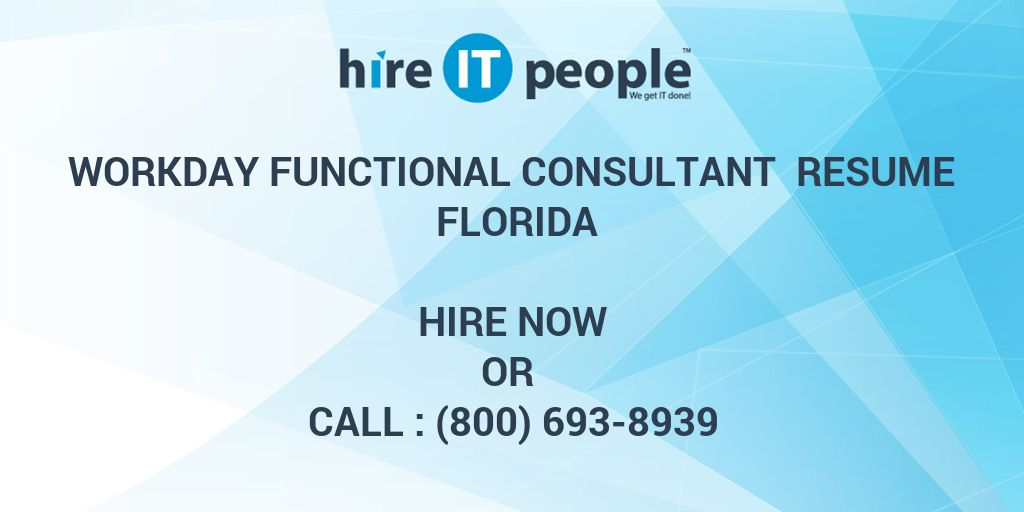 workday functional consultant resume florida